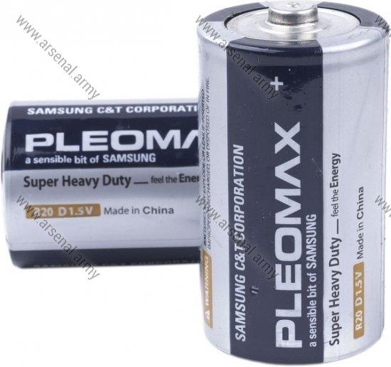 Батарейка R-20 Pleomax