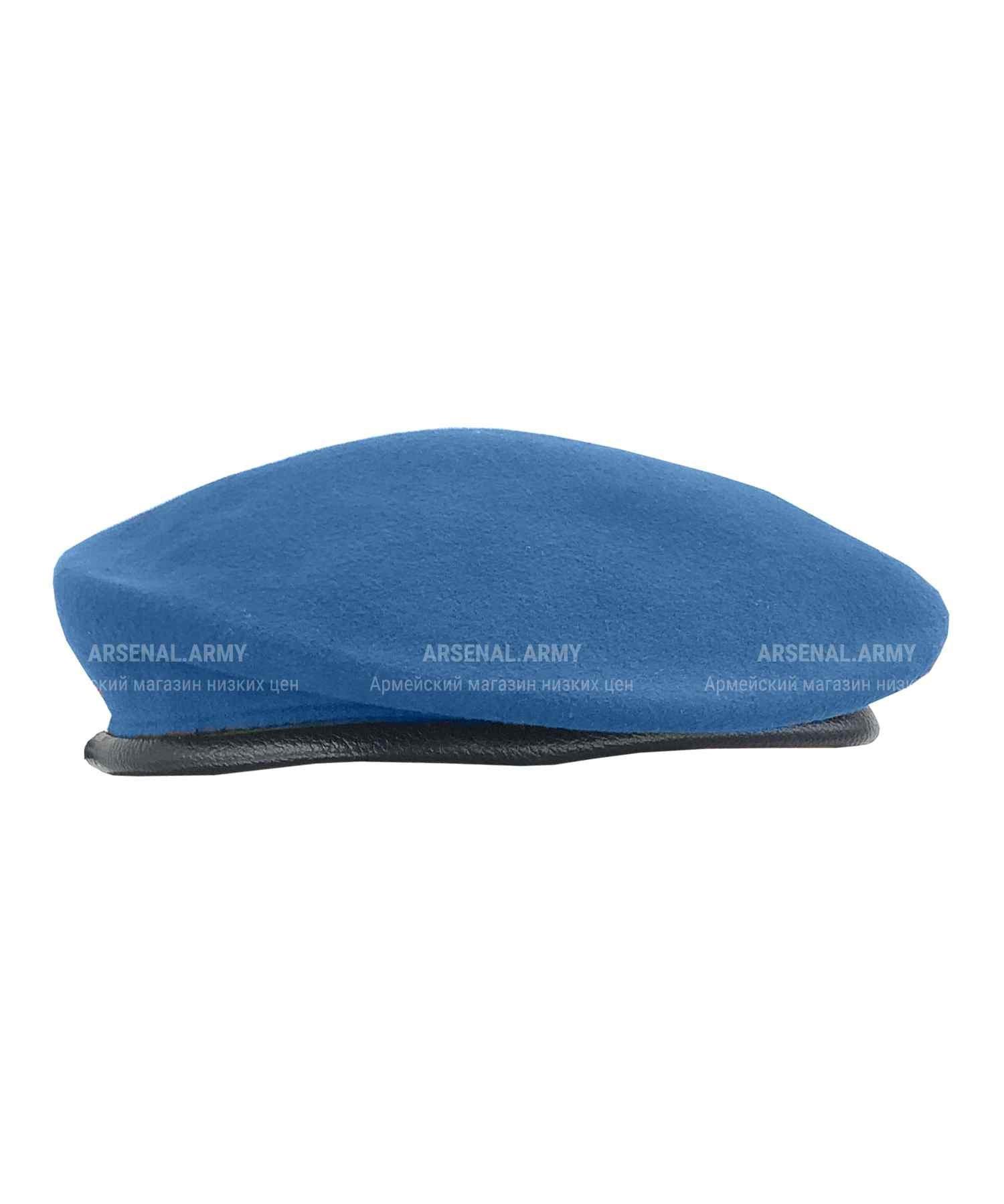 Берет голубой катаный