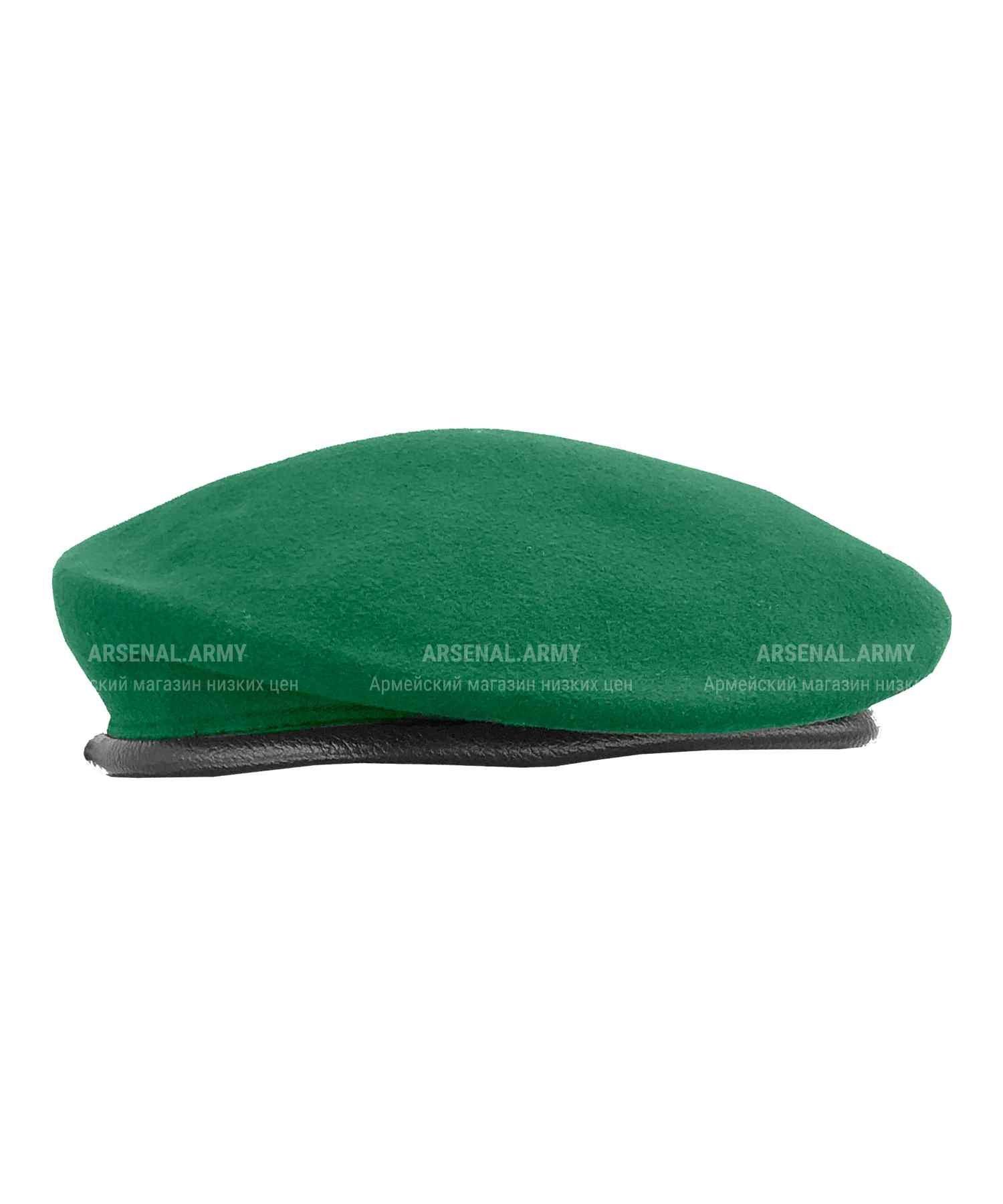 Берет зеленый катаный