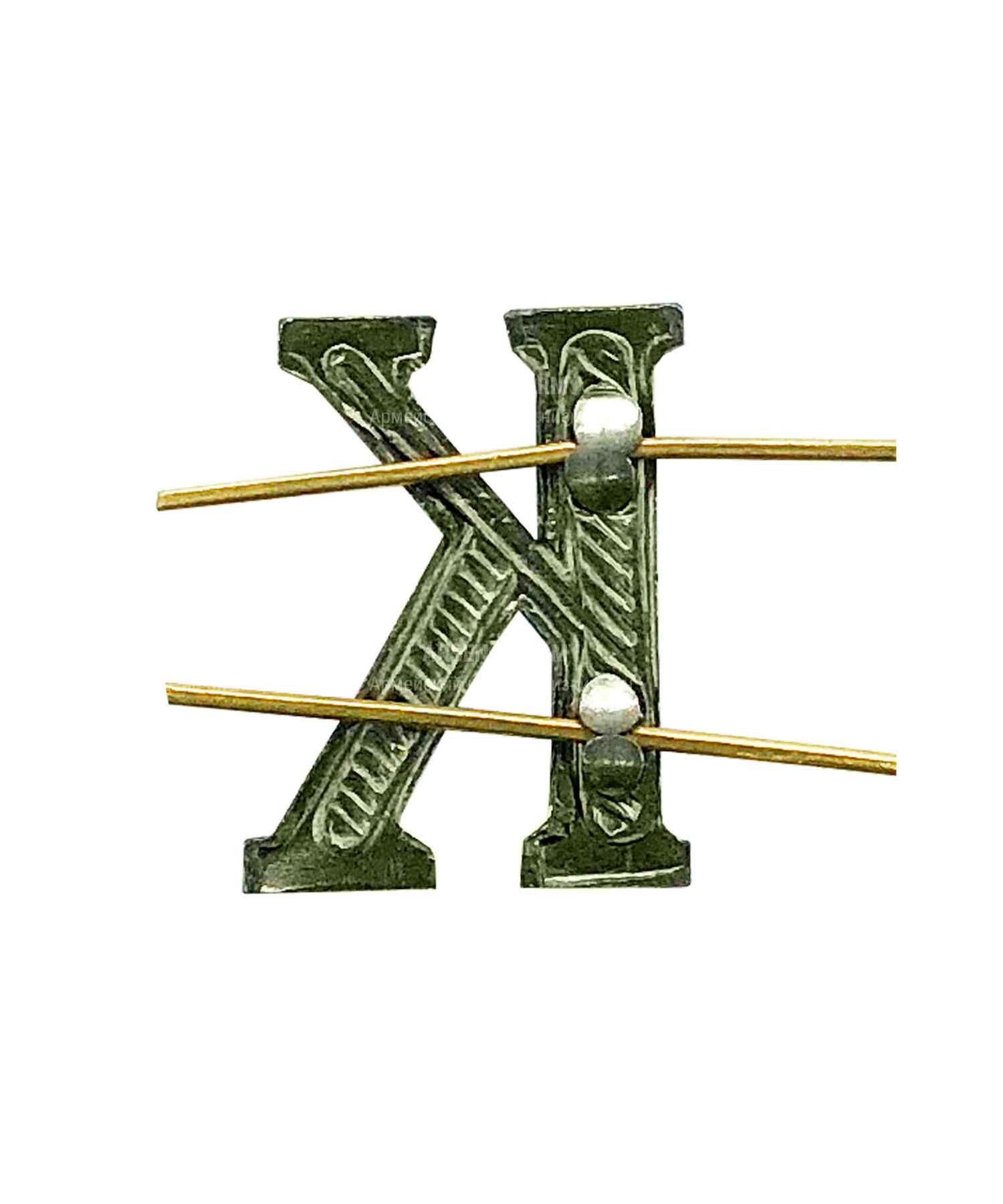 Буква на погоны К зеленая