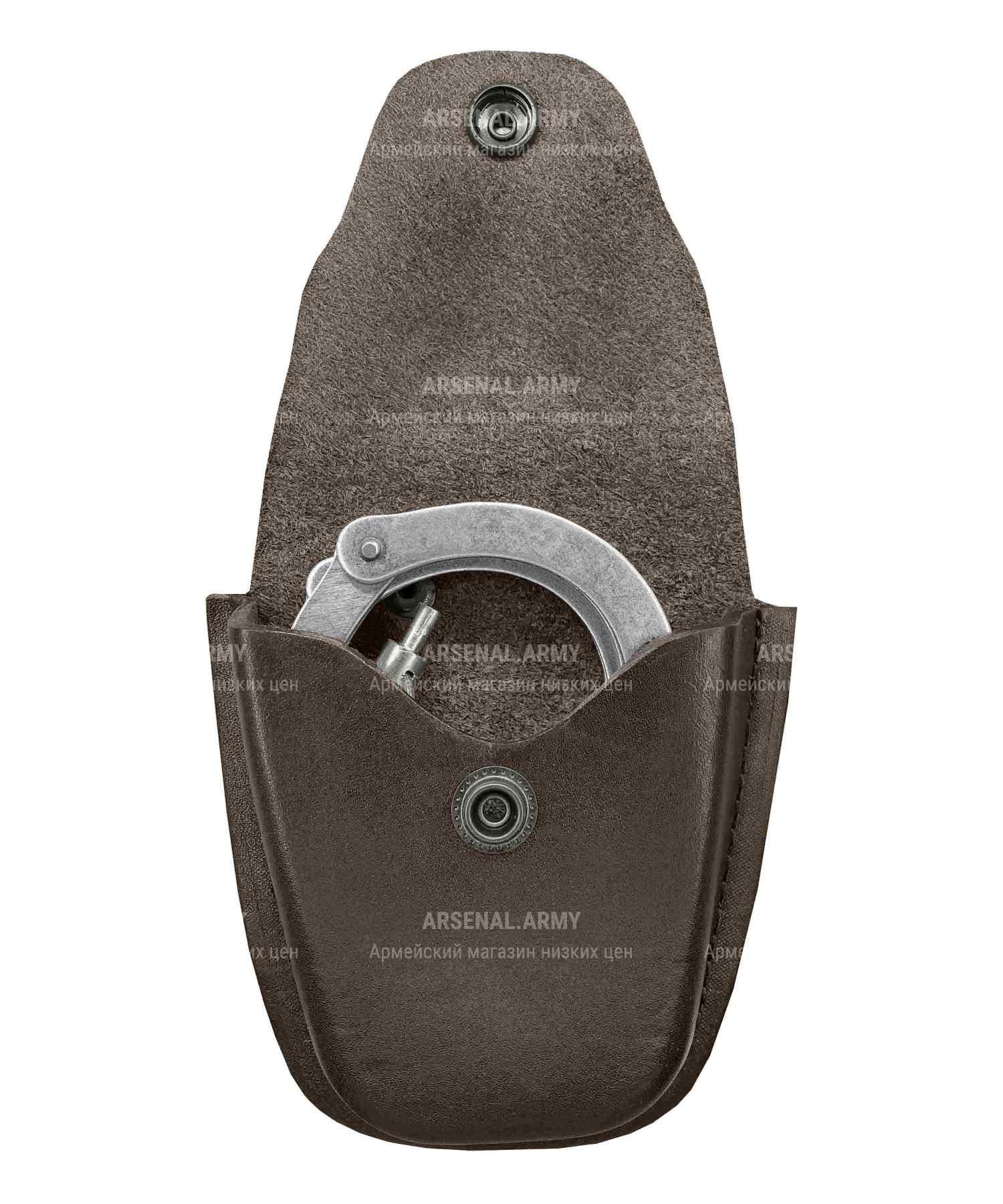 Чехол для наручников малый коричневый