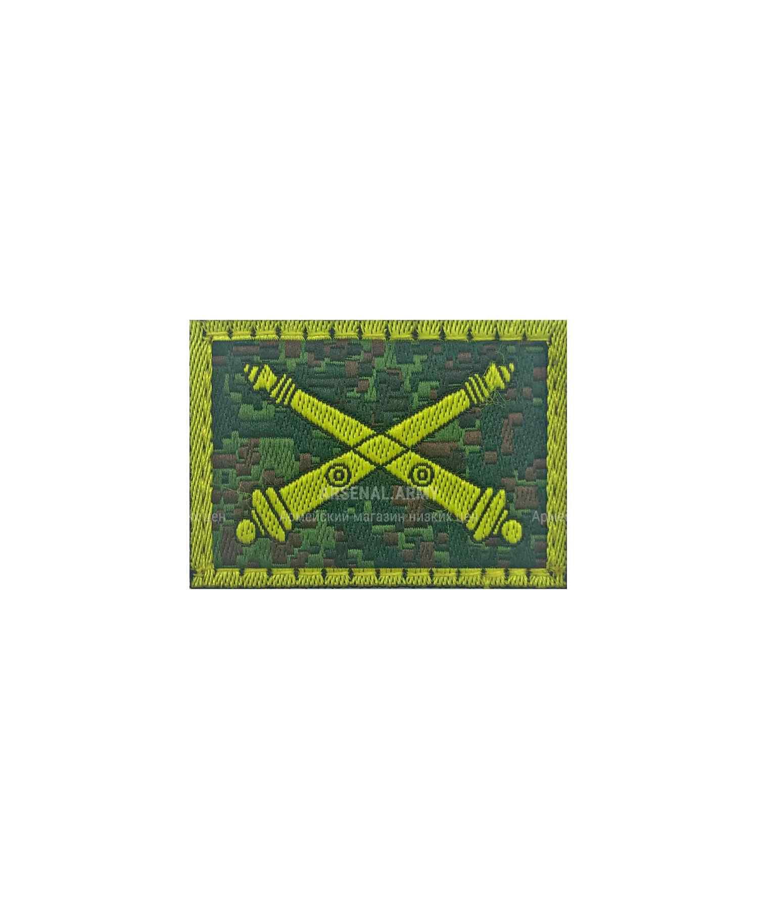 Эмблема артиллерии на липе