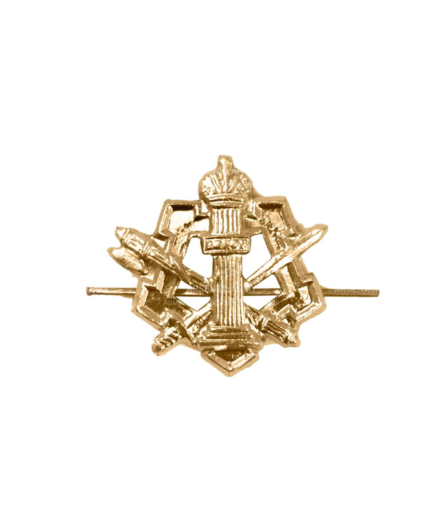 Эмблема ФСИН металлическая золото