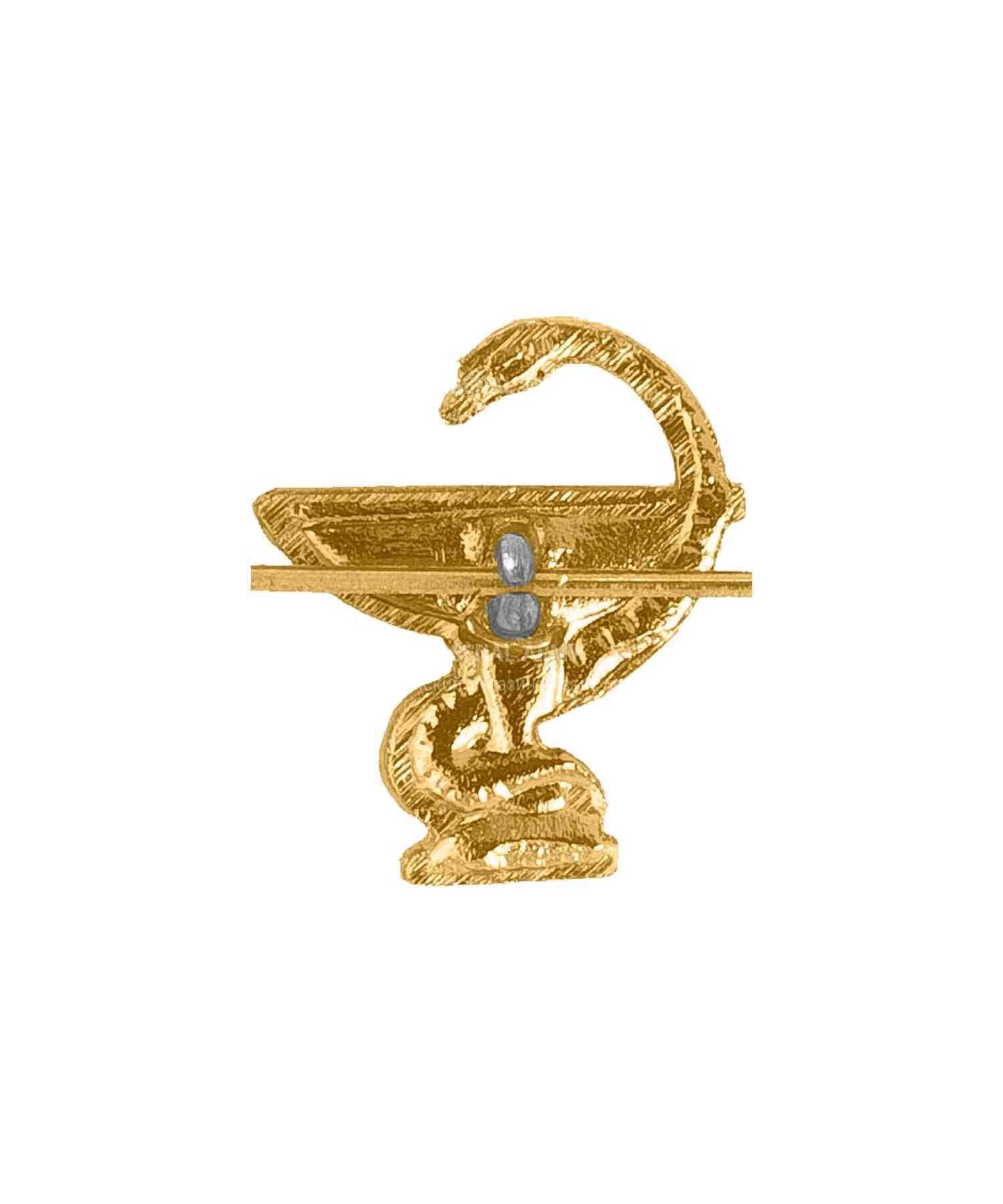 Эмблема медики золото нового образца (правая)