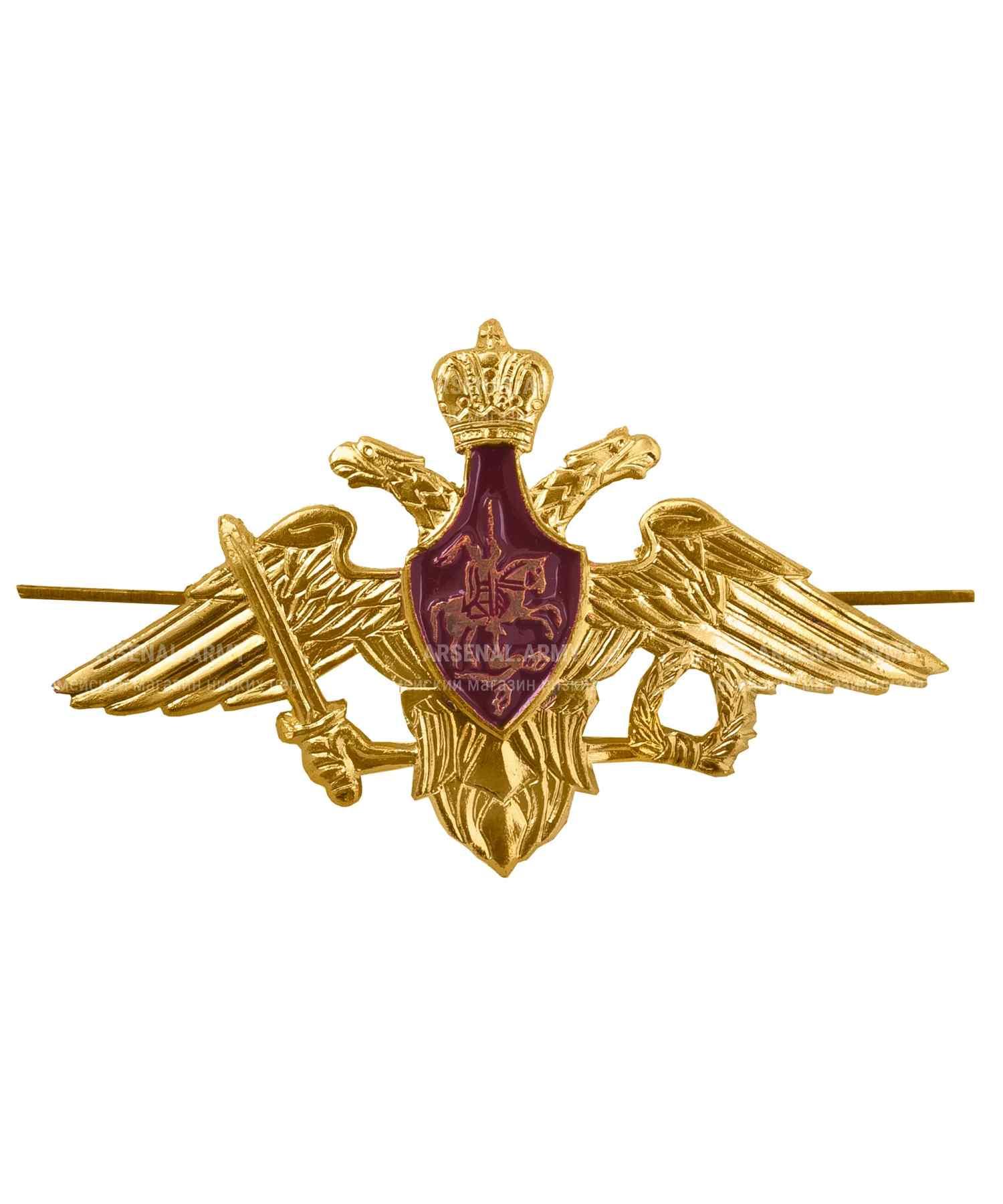 Эмблема на тулью МО металлическая