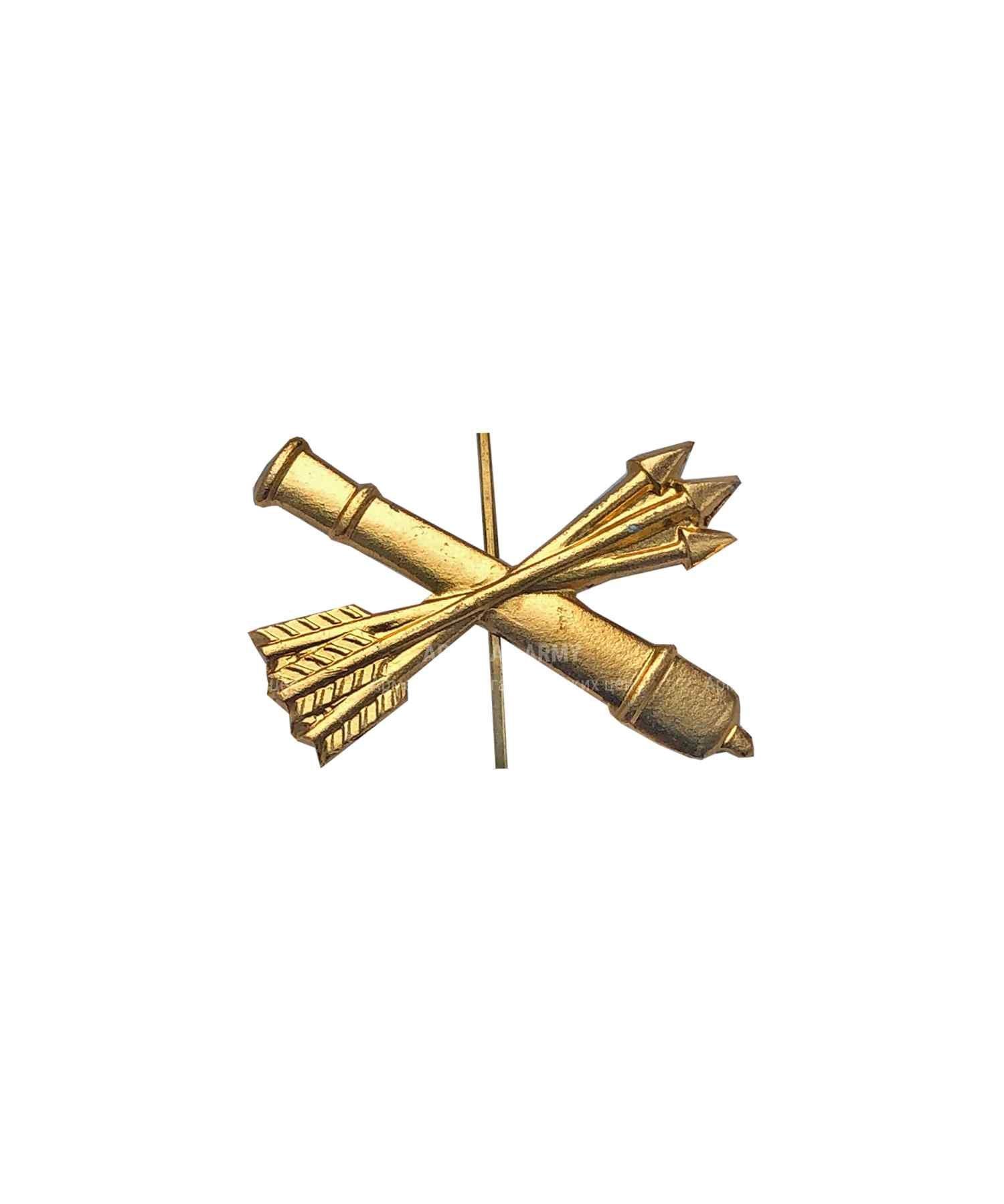 Эмблема ПВО металлическая желтая