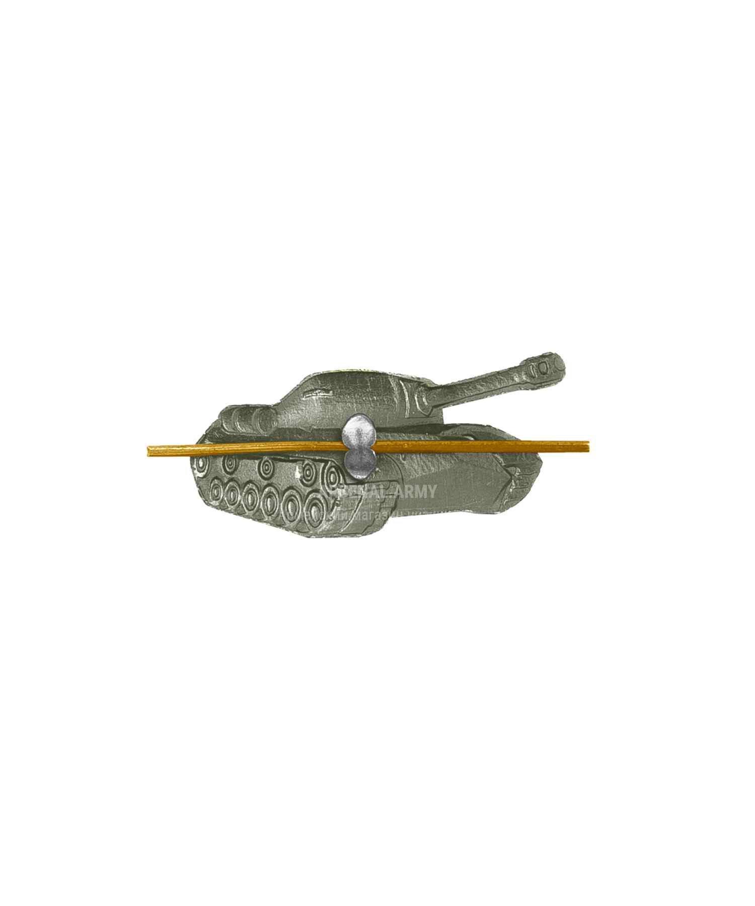 Эмблема танковые войска зеленая (левая)
