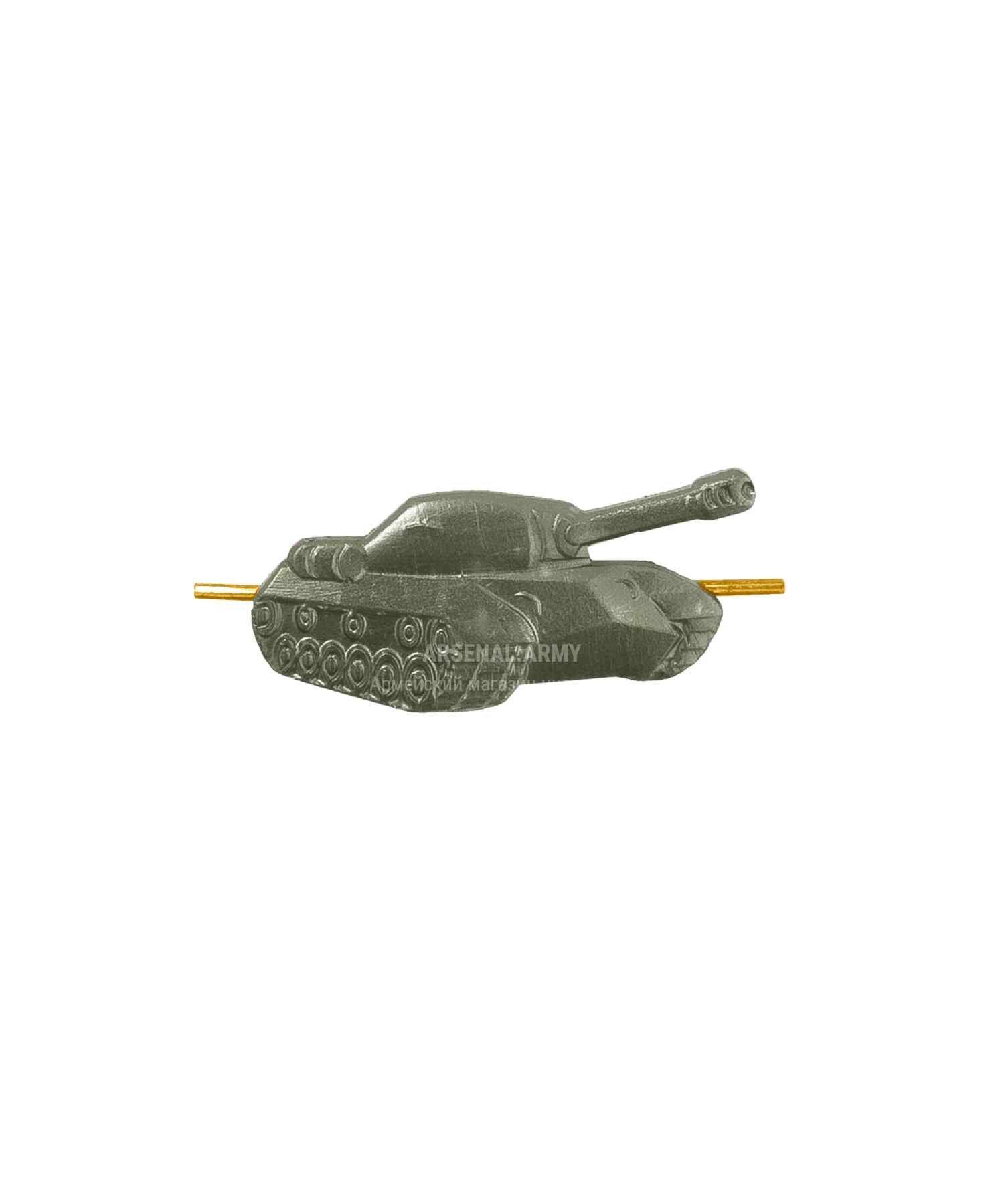 Эмблема танковые войска зеленая (правая)