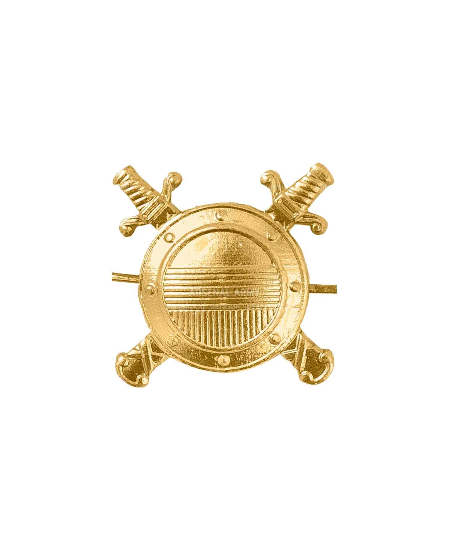 Эмблема внутренняя служба металлическая золото