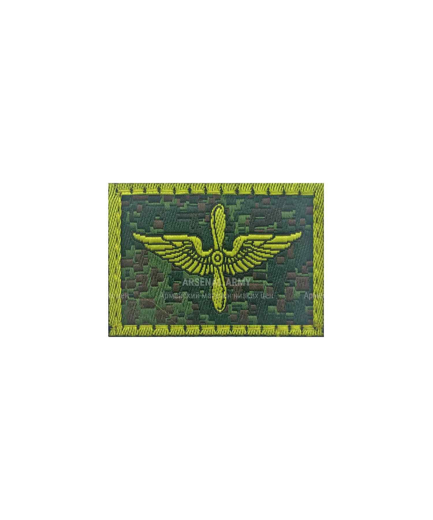 Эмблема ВВС на липе