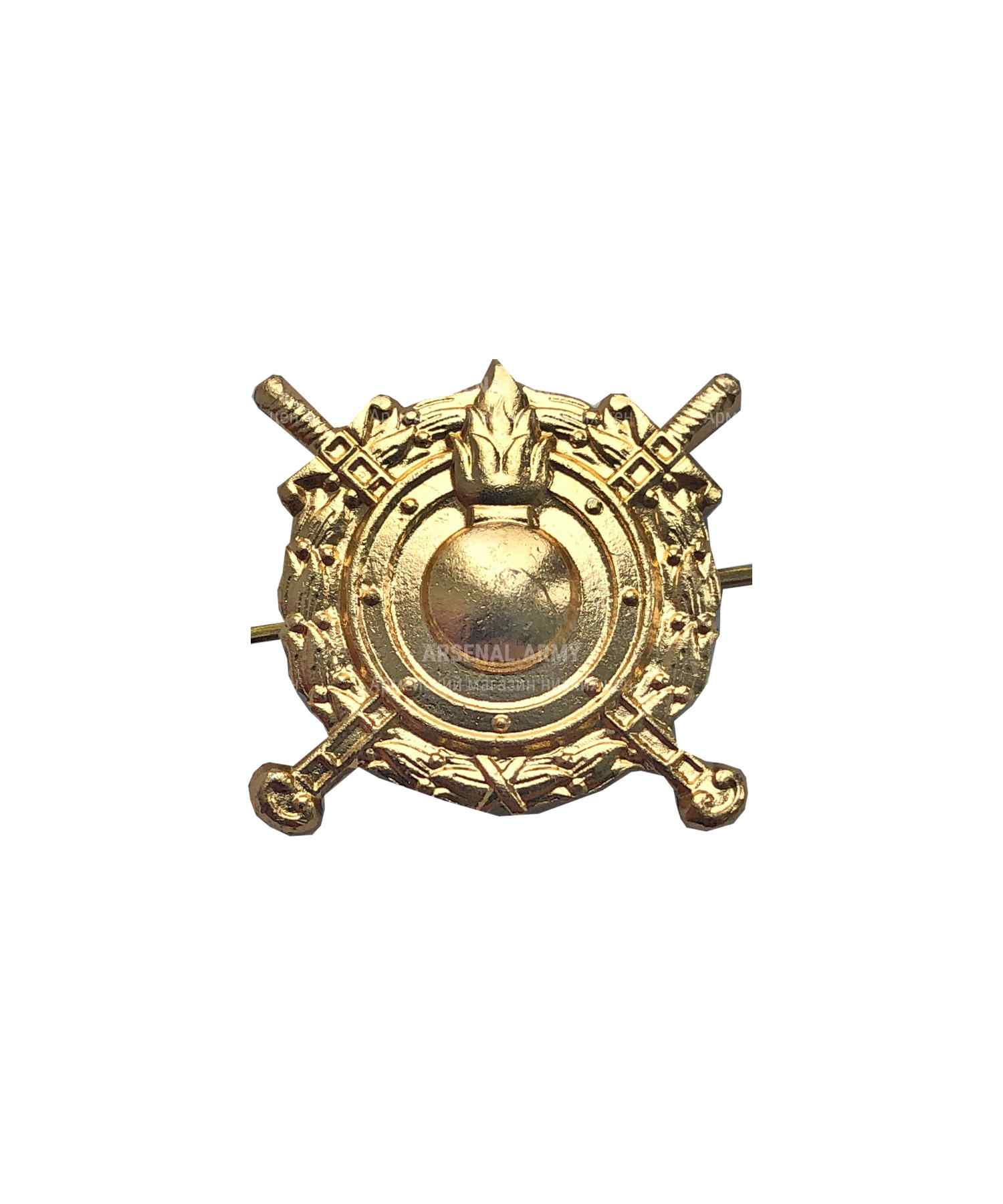 Эмблема ВВ МВД металлическая золото