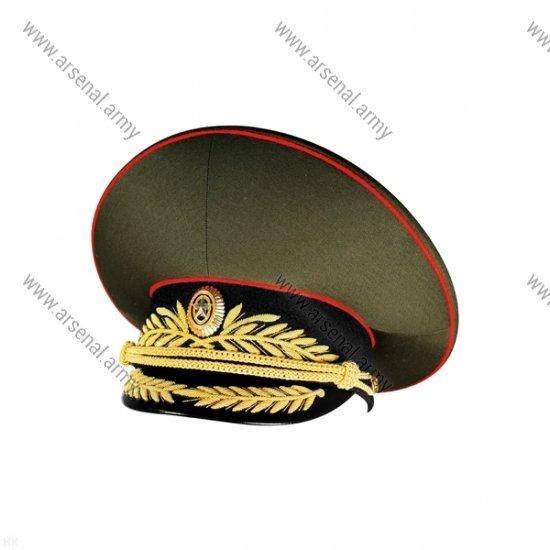 Фуражка ВС генеральская оливковая с черным околышем