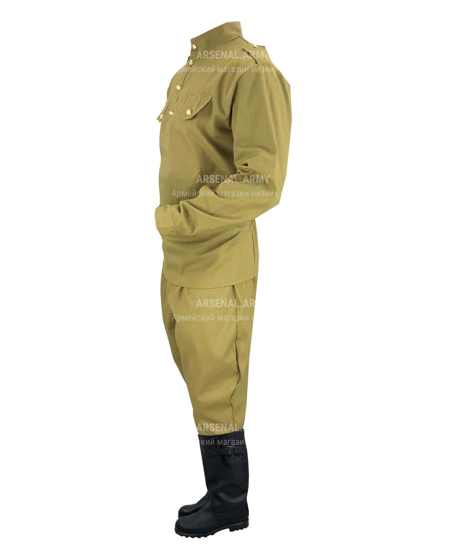 Гимнастерка ВОВ с брюками галифе