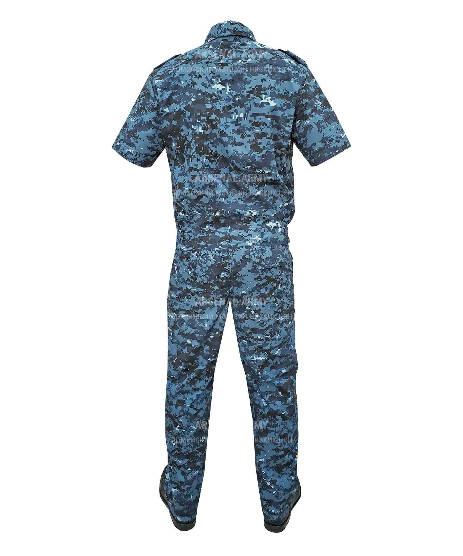 Костюм охрана цифра синяя короткий рукав