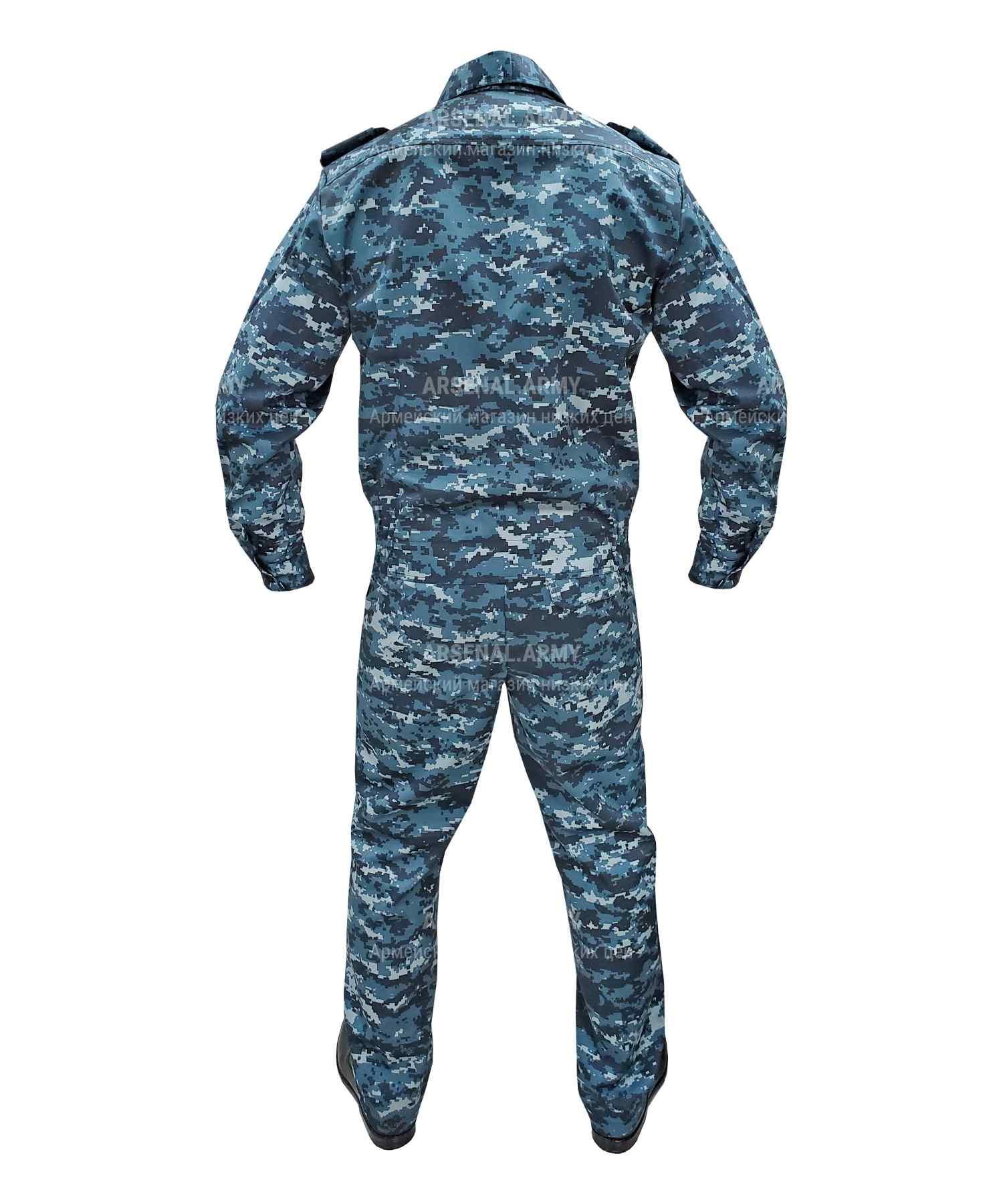 Костюм охранника цифра синяя грета