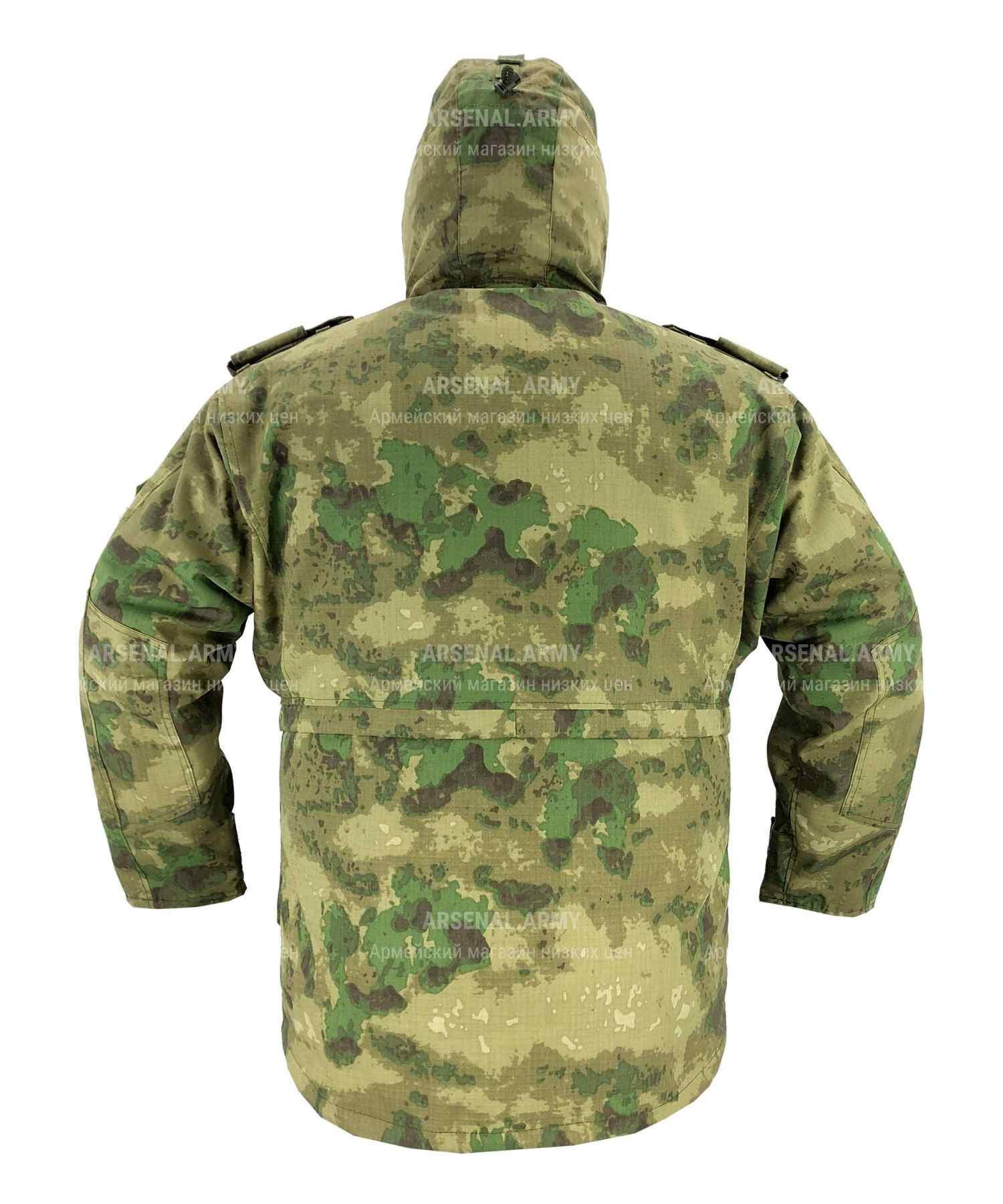 Куртка зимняя мох с подстежкой