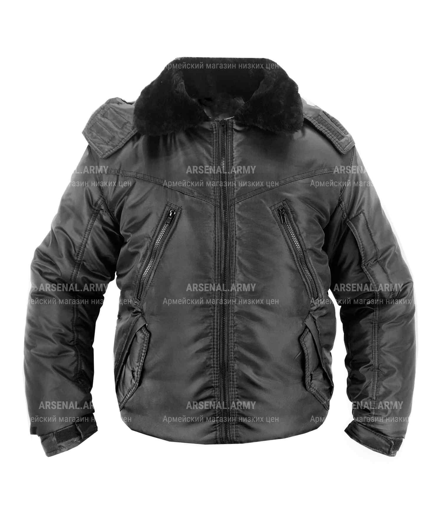 Куртка зимняя оксфорд черная короткая