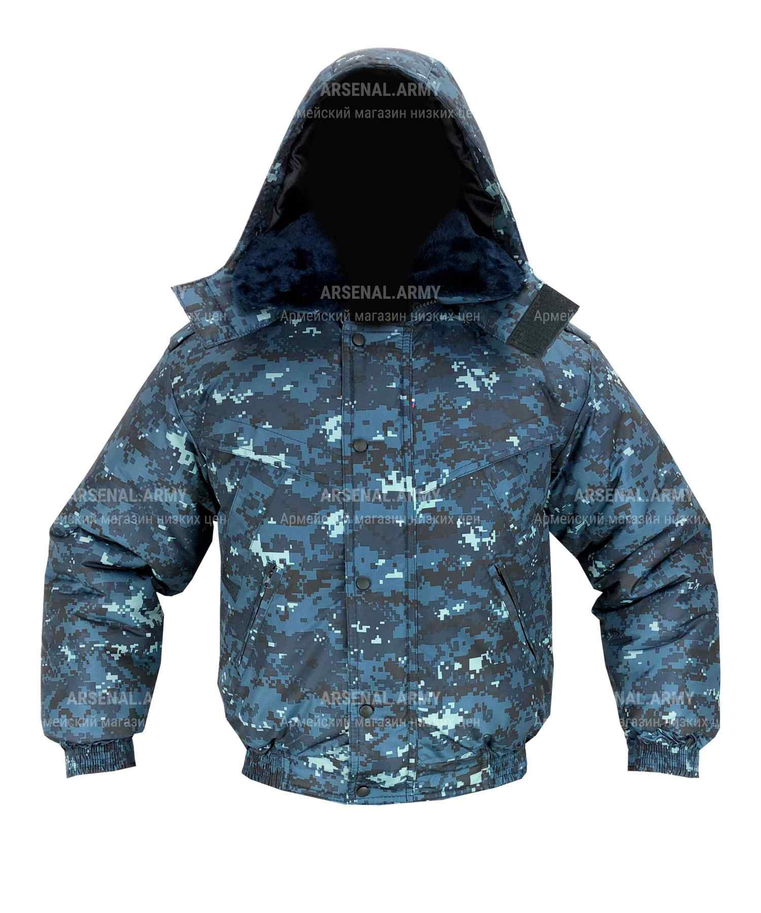 Куртка зимняя цифра синяя