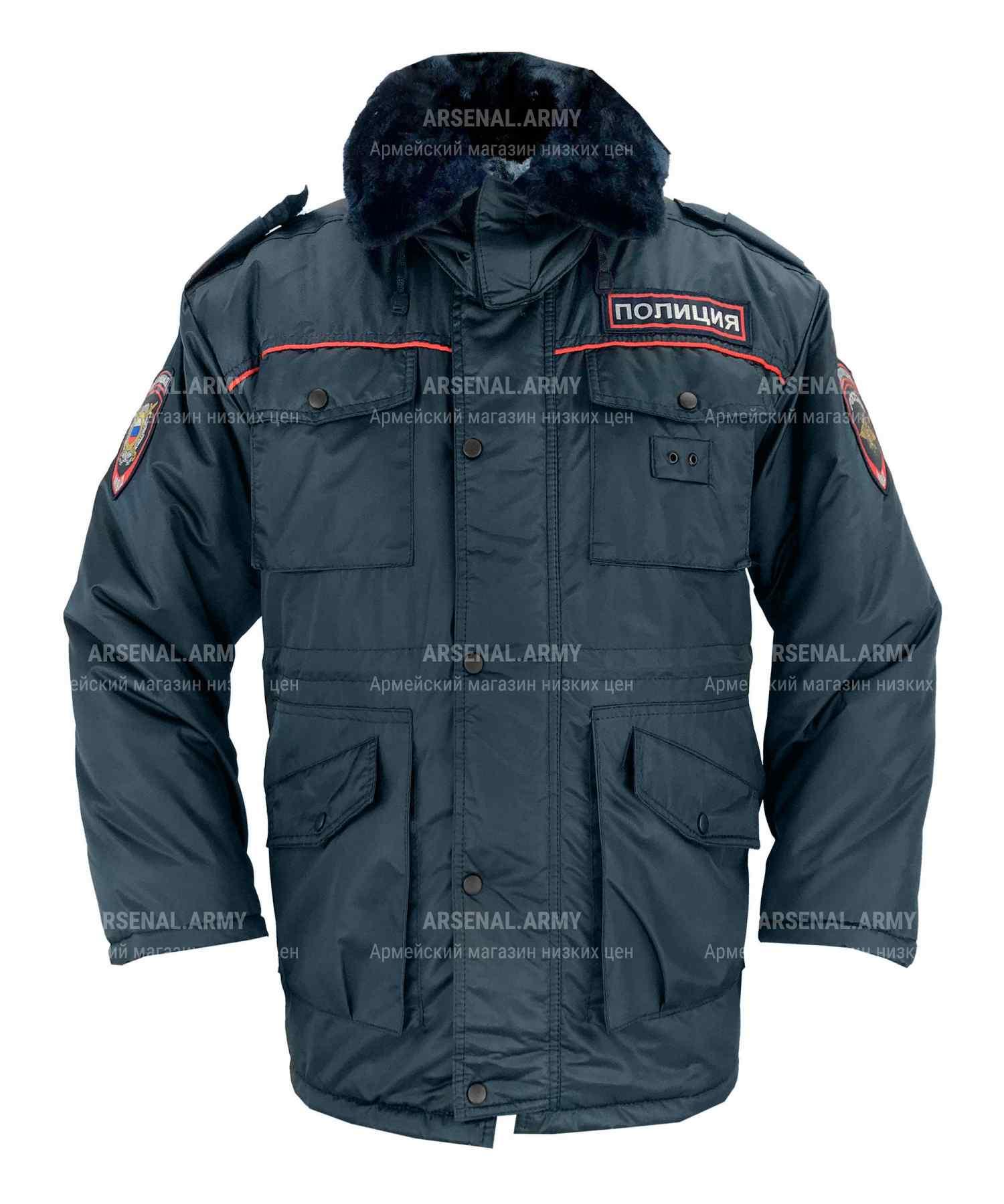 Куртка зимняя полиции длинная