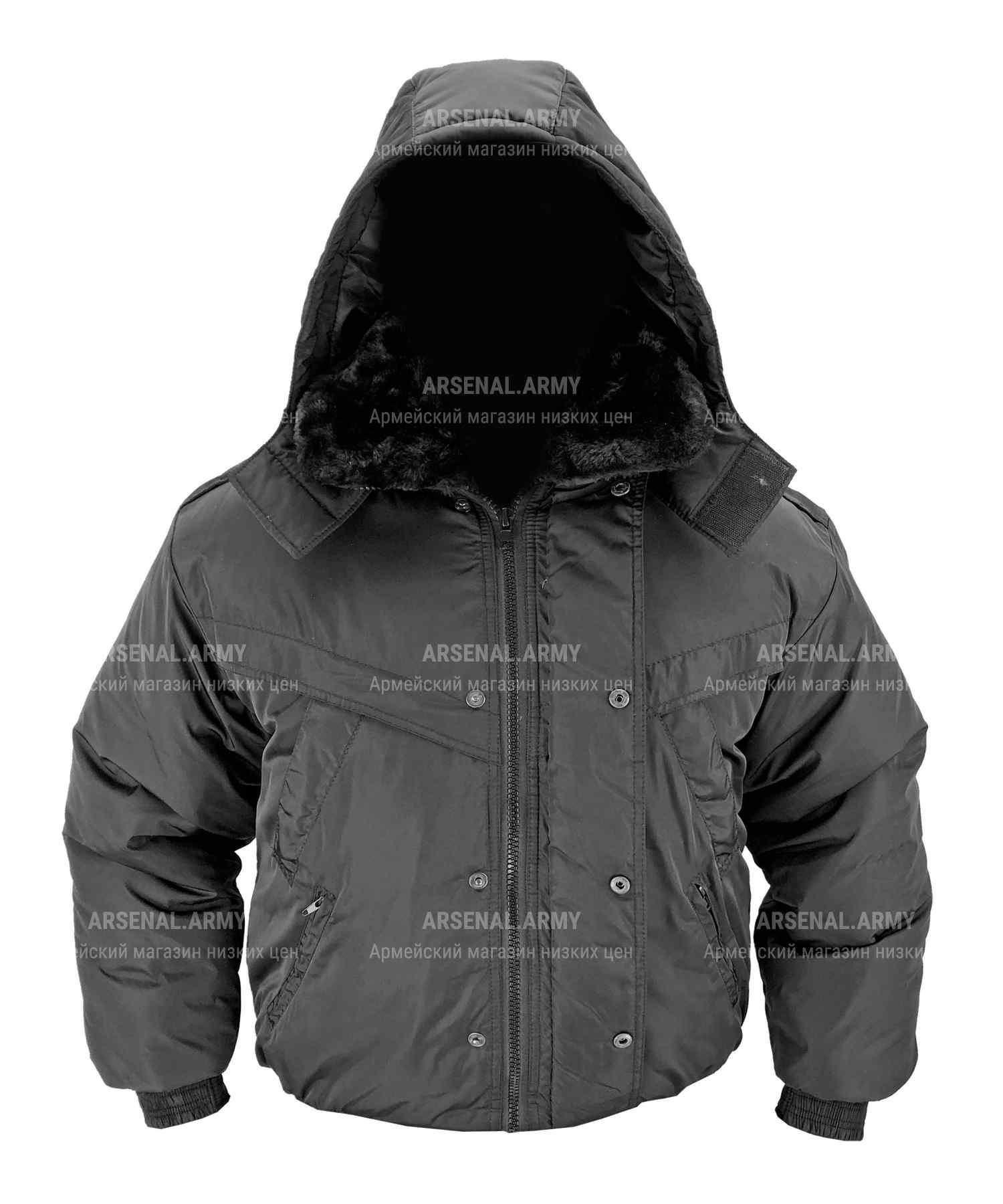 Куртка зимняя черная принц короткая