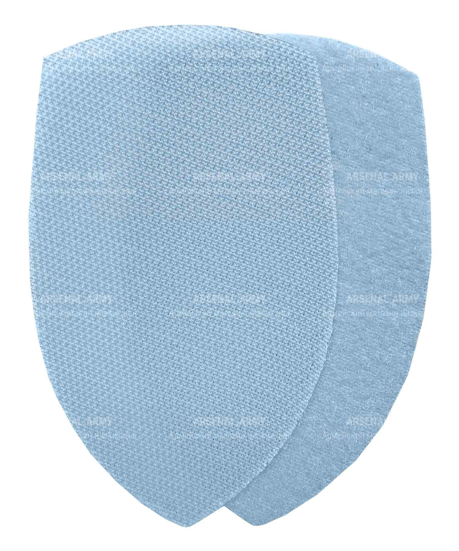 Лента липучая для шеврона голубая