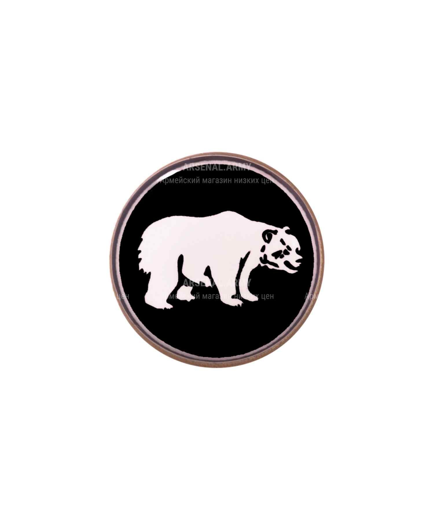 Значок ВВ медведь на пимсе