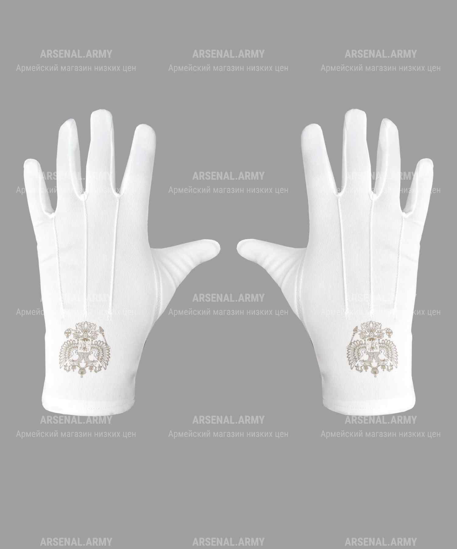 Перчатки парадные с гербом