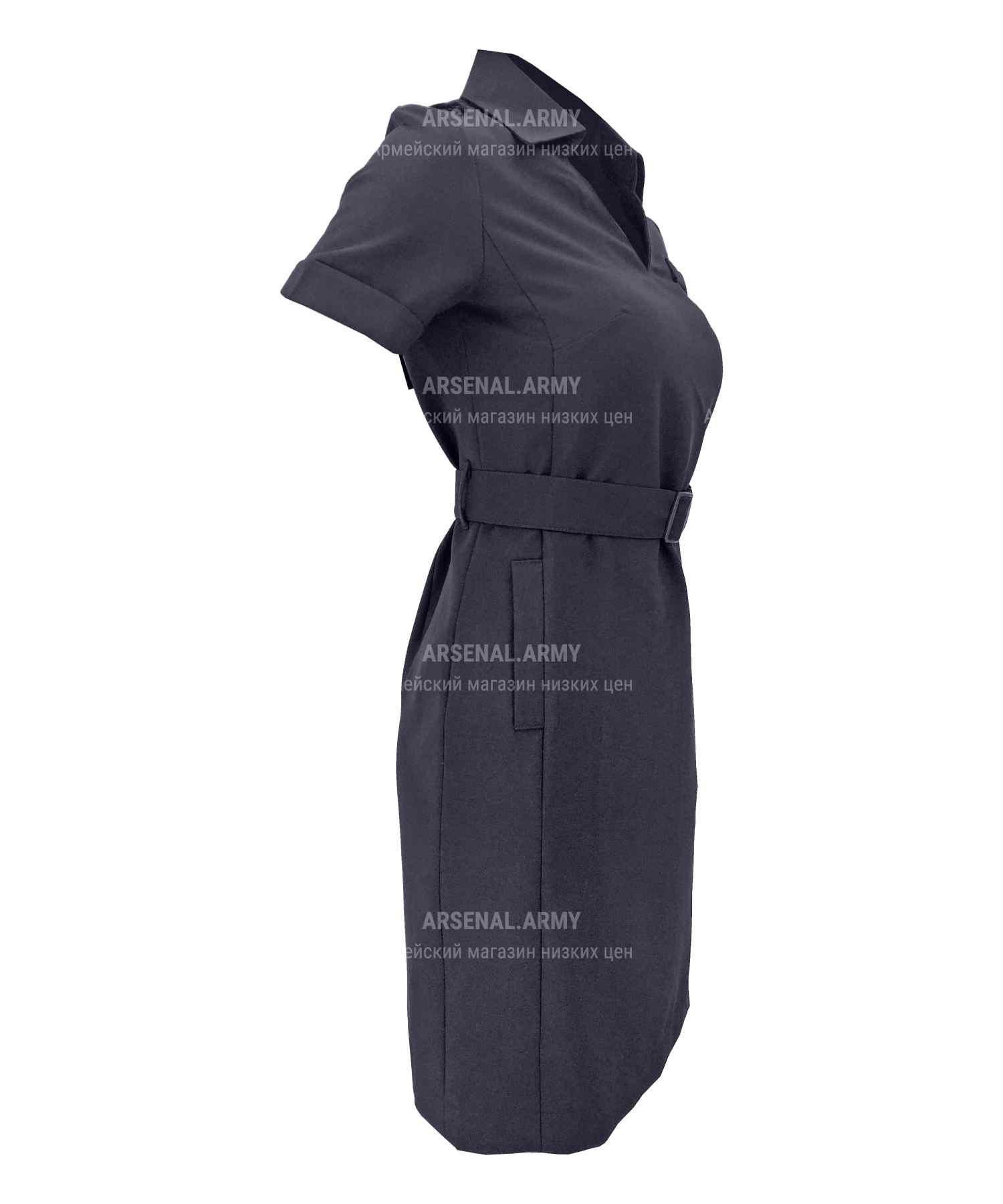 Платье полиции габардин короткий рукав