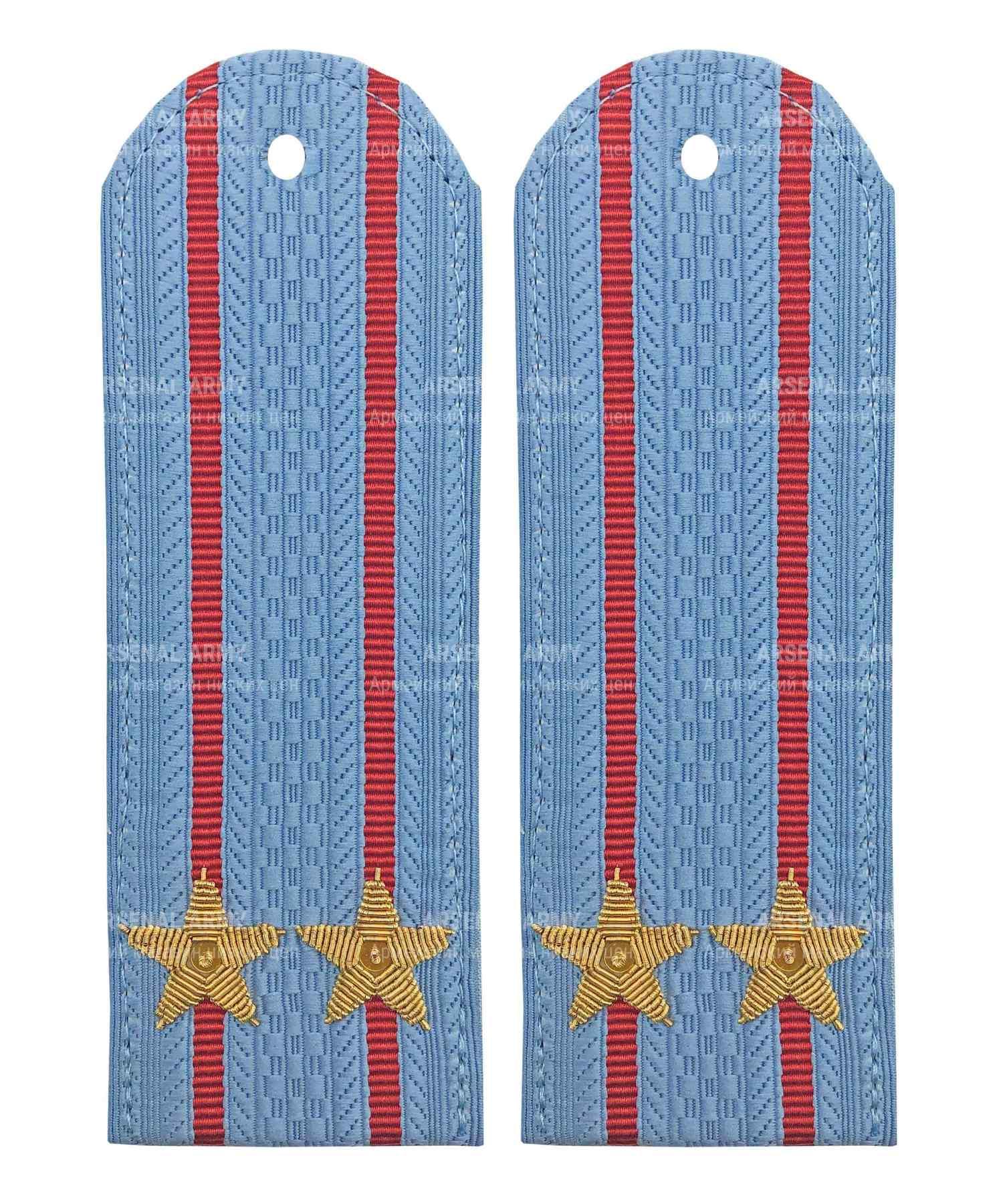 Погоны полиции подполковник голубые картонные