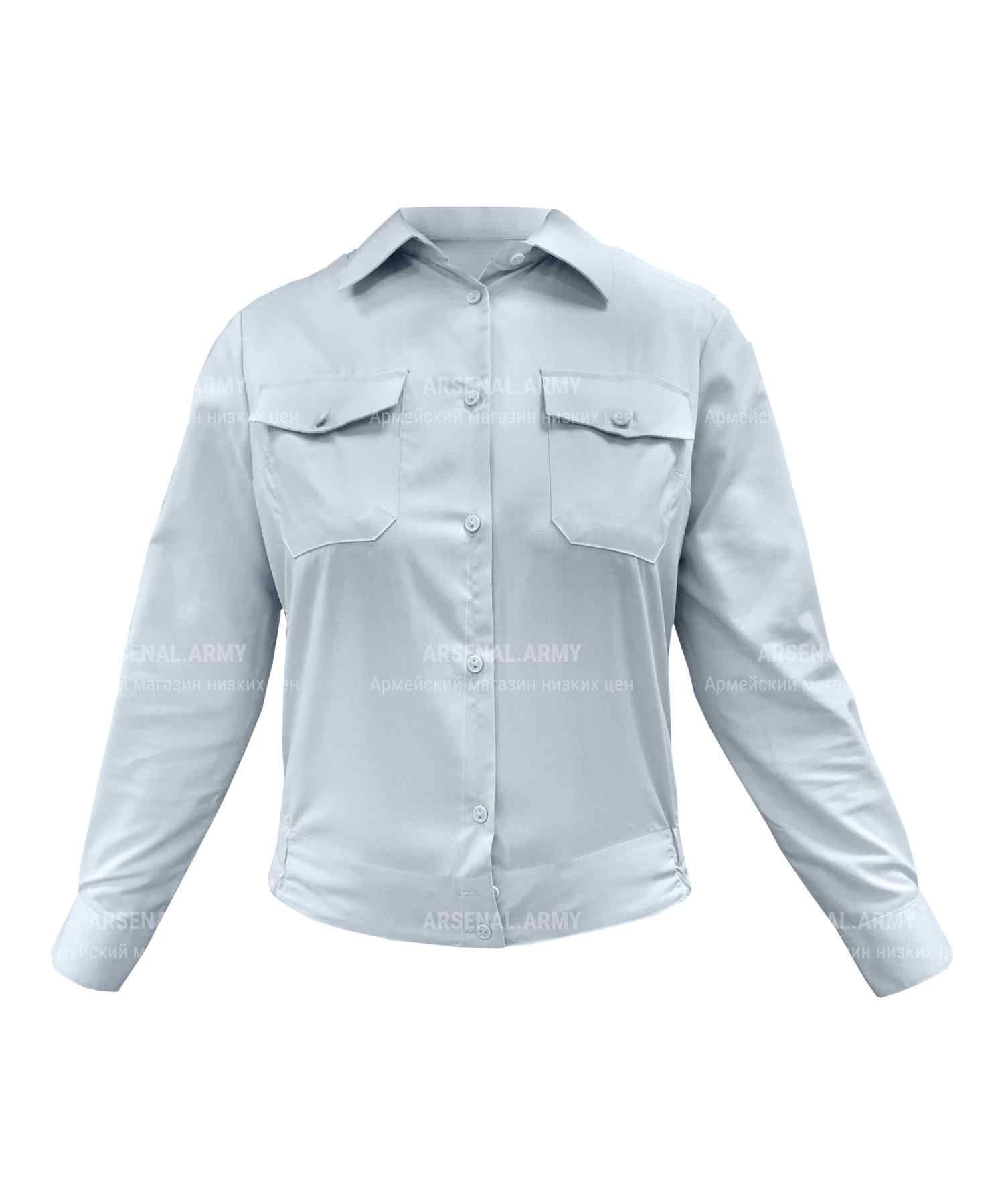 Рубашка полиции женская голубая (длинный рукав)