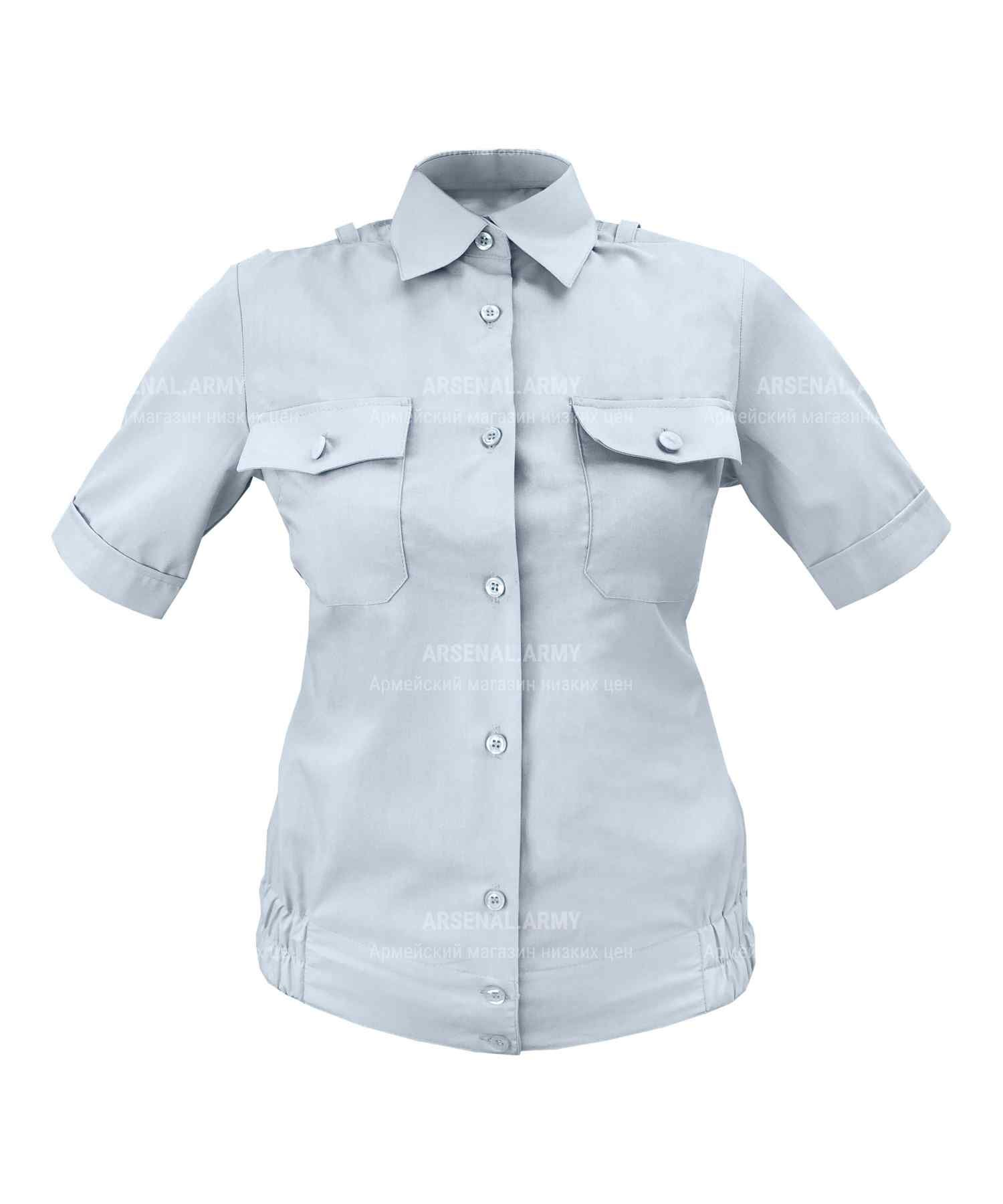 Рубашка полиции женская голубая (короткий рукав)