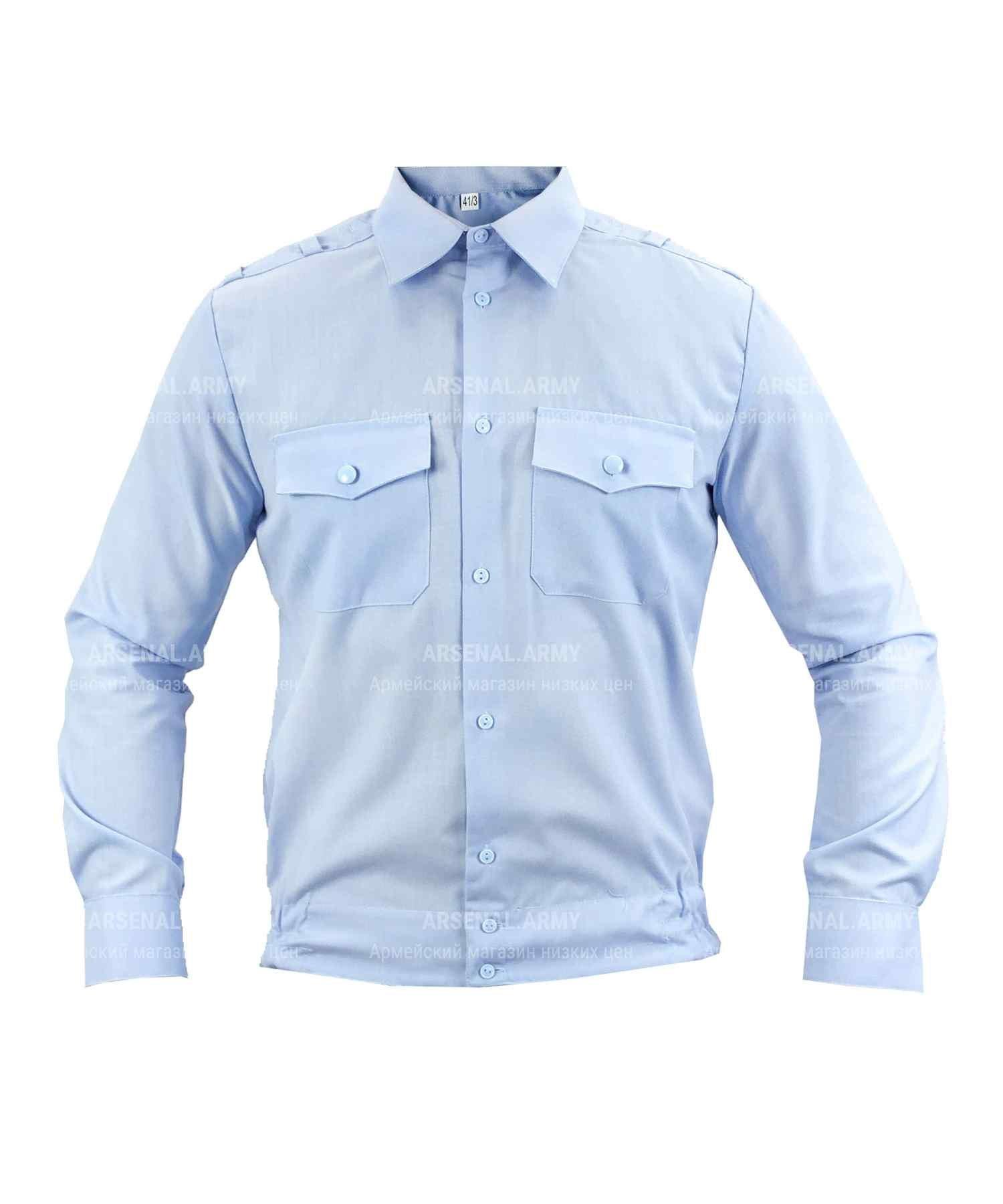 Рубашка полиции мужская голубая (длинный рукав)