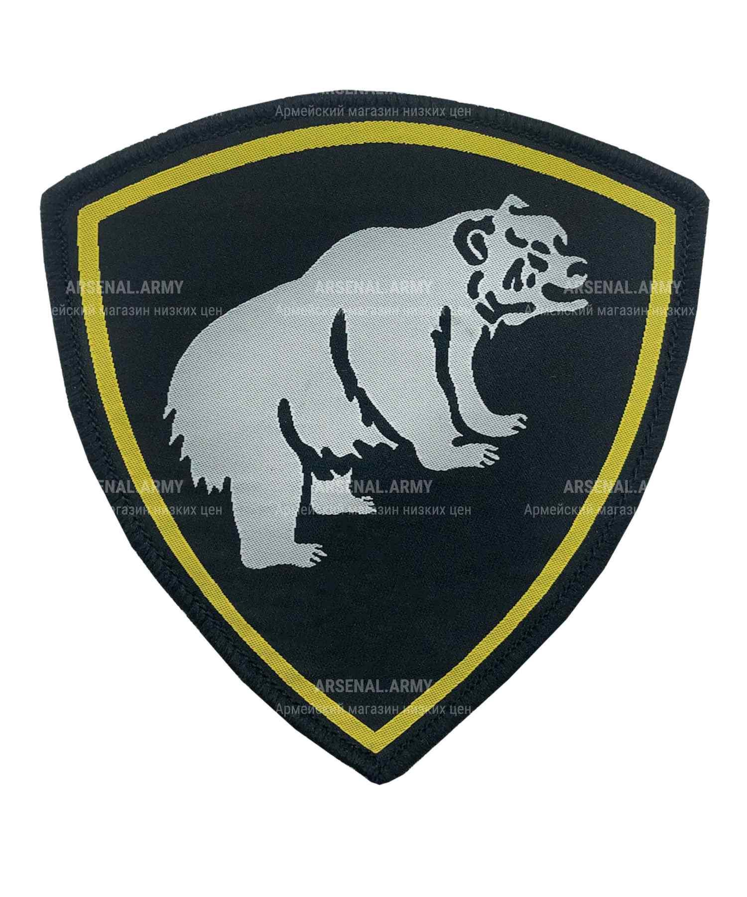 Шеврон тканый медведь