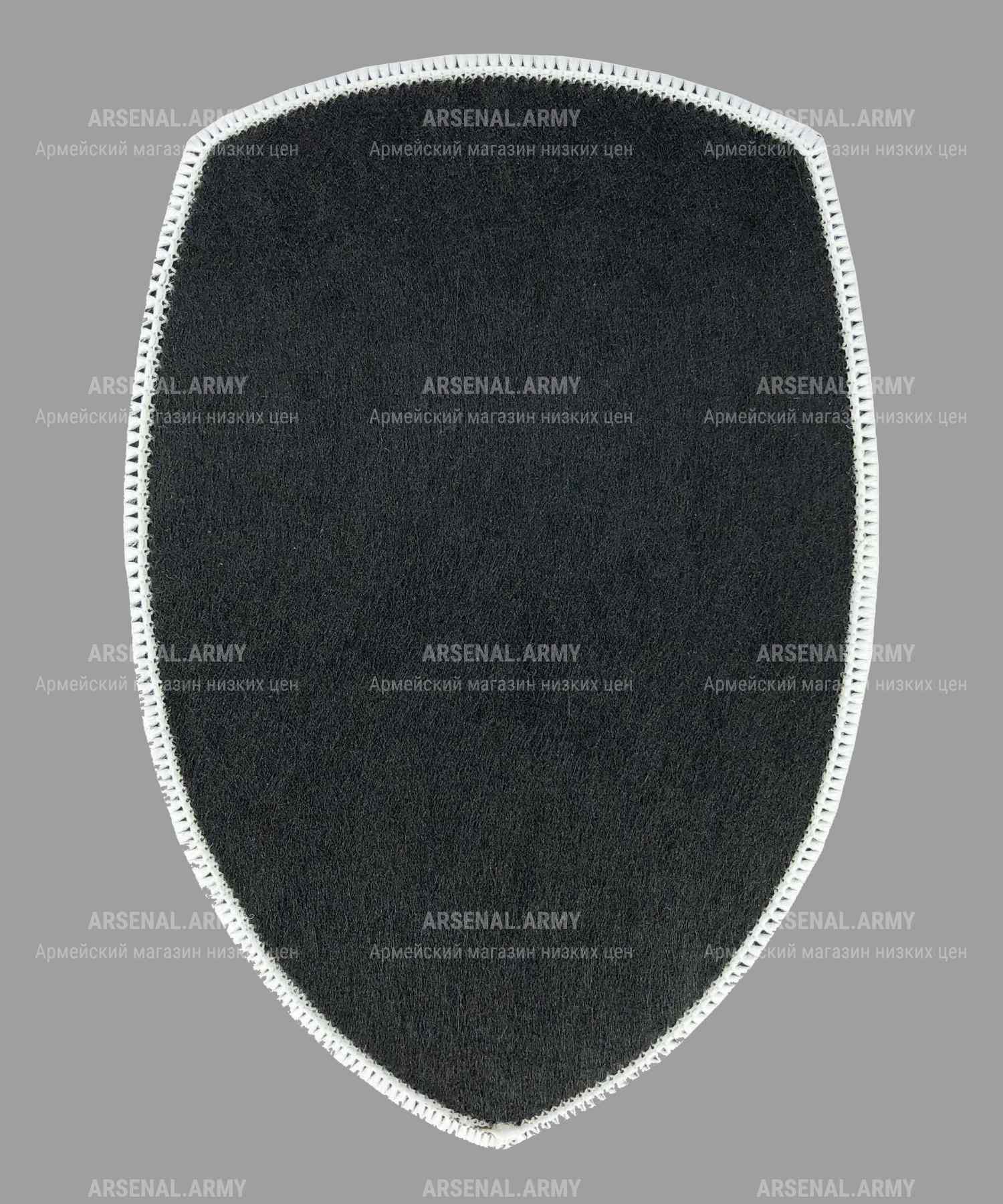 Шеврон жаккардовый полиции серый герб