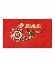 Флаг 9 мая с орденом 90*145