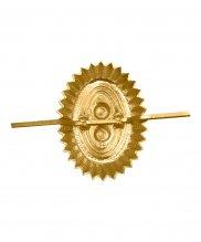 Кокарда орех МО нового образца металлическая желтая