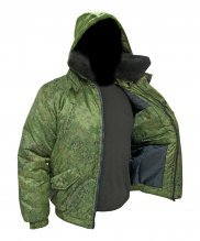 Куртка зимняя Норд цифра зеленая