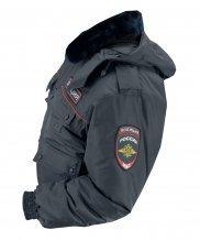 Куртка зимняя полиции с шевронами