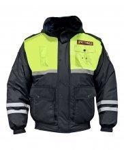 Куртка зимняя ДПС с желтой вставкой