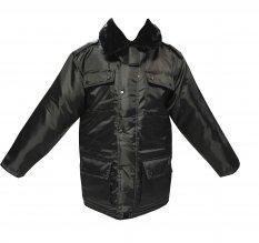 Куртка зимняя черная длинная