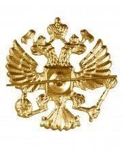 Эмблема на тулью металлическая орел РФ круглый