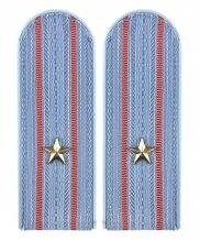 Погоны полиции голубые с металлической звездой