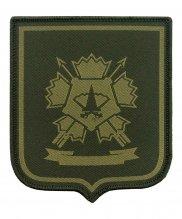 Шеврон жаккардовый спецназ ВС зеленый на липе