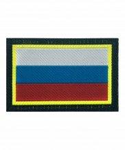 Шеврон флаг РФ на липе прямоугольный