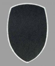 Шеврон жаккардовый полиции серый щит