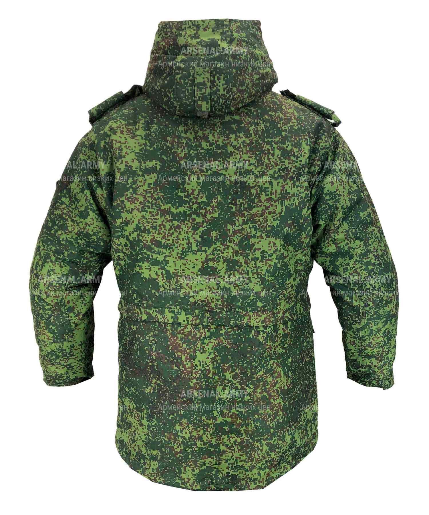 Куртка зимняя пиксель с подстежкой