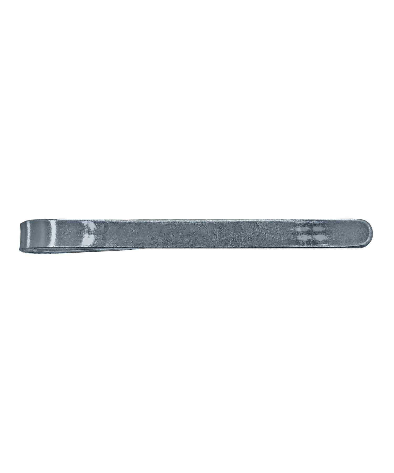 Зажим для галстука металлический серебристый