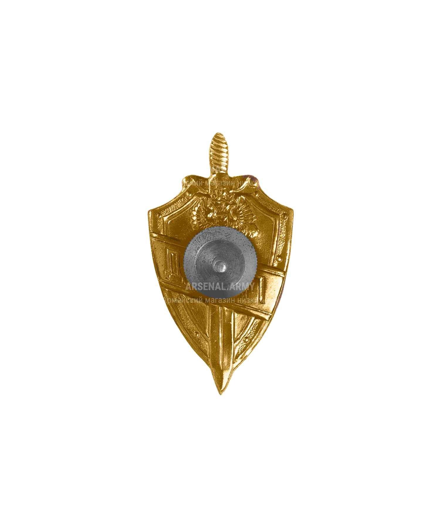 Значок металлический ГИБДД Щит латунь