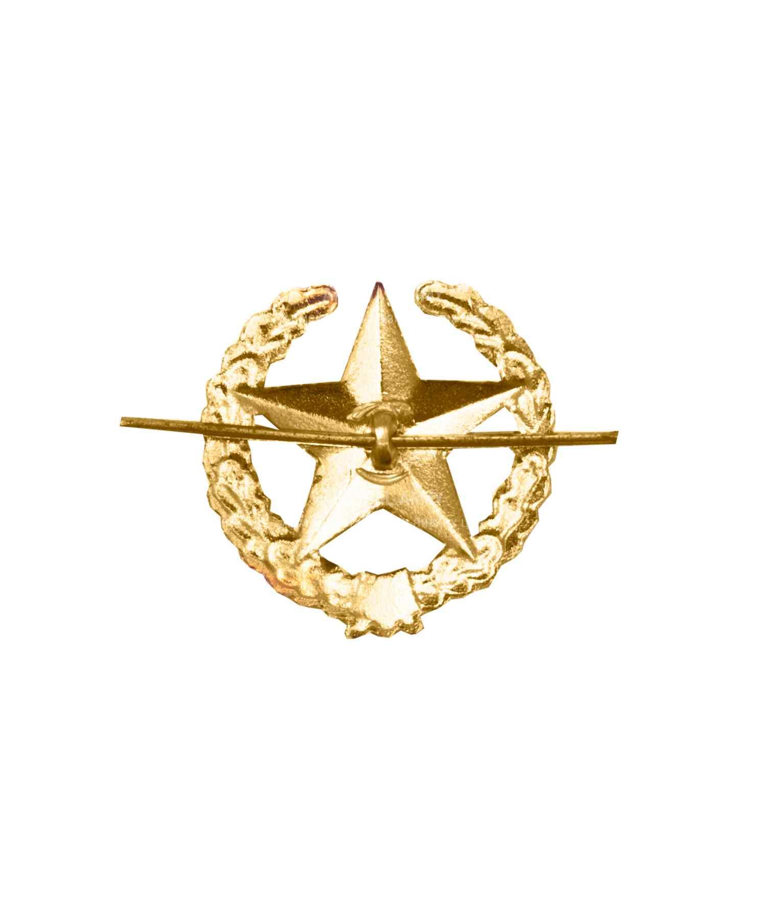 Эмблема ОВ звезда желтая металлическая
